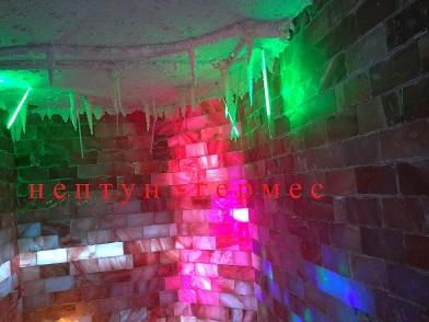 Соляная комната из рассыпной соли