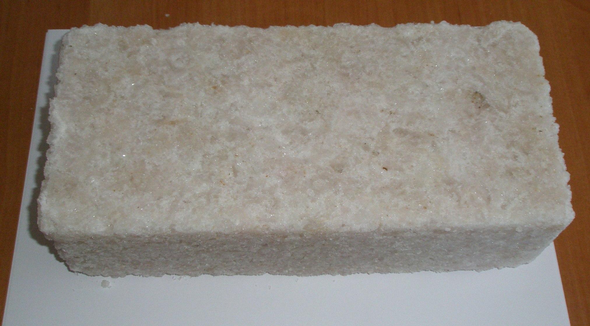 Соляной кирпич 250х12х9
